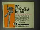 1961 Lyman Adjustable Bullet Swaging Core Mould Ad