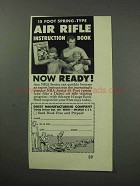 1961 Daisy Air Rifle Ad - 15 Foot Spring-Type