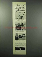 1960 Ray-Ban Shooting Glasses Ad - Choice of Champions