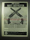 1960 Navy Arms Ad - Colt's Navy Six Shooter