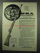 1960 BSA Majestic DeLuxe Featherweight Rifle Ad - Tiger