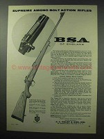 1960 BSA Featherweight Majestic Deluxe Rifle Ad