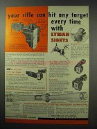 1960 Lyman Sights Ad - Your Rifle Can Hit Any Target
