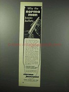 1960 Norma Bullets Ad - The Norma Man Knows Bullets