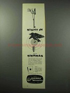 1960 Sierra Bullets Ad - Sight in With Sierras
