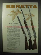 1960 Beretta Silver Snipe and Silver Pigeon Ad