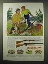 1960 Winchester Model 61 and 77 Rifle Ad - Year 'Round