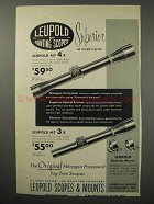 1960 Leupold M7 4x and M7 3x Scopes Ad - Superior