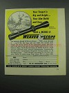 1960 Weaver Model K4 Scope Ad - Target Big and Bright