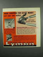 1960 Lyman Ad - Four-Cavity Bullet Mould