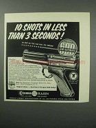 1960 Crosman 600 Semi-Automatic Pistol Ad - 10 Shots