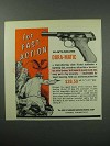 1960 High Standard Dura-Matic Pistol Ad - Fast Action