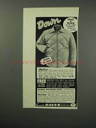 1960 Eddie Bauer Skyliner Coat Ad - Twice as Warm
