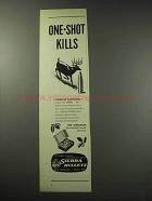 1959 Sierra Bullets Ad - One-Shot Kills
