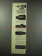 1959 Bushnell 3x-9x Variable Command Post Scope Ad