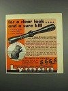 1959 Lyman All-American Scope Ad - For a Clear Look
