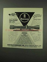 1959 Redfield 4x Bear Cub Scope Ad - Fog-Proof