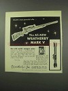 1959 Weatherby Mark V Rifle Ad - Most Powerful