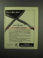 1951 Ithaca Gun Featherlight Repeater Shotgun Ad