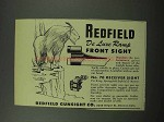 1951 Redfield De Luxe Ramp Front Sight Ad