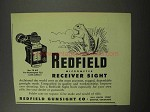 1951 Redfield No. 70 WT Micrometer Receiver Sight Ad