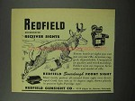 1951 Redfield Micrometer Receiver Sights Ad