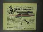 1951 Redfield Junior Scope Mounts Ad - Finest