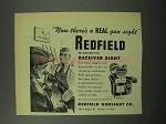 1951 Redfield No. 70 LT Micrometer Receiver Sight Ad