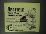 1951 Redfield Utility Ramp Front Sight Ad
