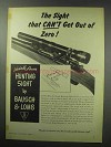 1950 Bausch & Lomb Hunting Sight Ad!