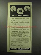 1950 National Rifle Association NRA Ad - Your Target?
