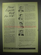 1950 National Rifle Association NRA Ad - Experts Work