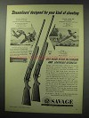 1950 Savage Model 755 and 775 Shotgun Ad - Streamliners