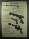 1950 Colt Gun Ad - Woodsman, Officers Model Special