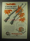 1950 Winchester Model 52 and 75 Rifle Ad - Gift