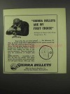 1950 Sierra Bullets Ad - Are My First Choice