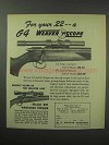 1950 Weaver G4 Scope Ad - For Your .22