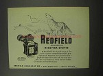 1950 Redfield Micrometer Receiver Sights Advertisement