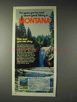 1973 Montana Tourism Ad - Great Fishing
