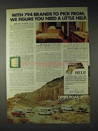 1973 Open Road RV Ad - You Need a Little Help