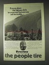 1973 Firestone 500 Steel Belt Tire Ad - Go Places