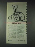 1973 U.S. Department of Health Ad - FDR Sat Here