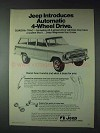1973 Jeep Wagoneer Ad - Automatic 4-Wheel Drive