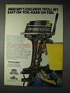 1973 Mercury Outboard Motor Ad - Exclusive Troll Set