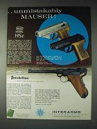 1973 Interarms Mauser HSc and Parabellum Pistol Ad