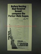 1973 Parker-Hale Super Rifle Ad - Buying Favored Brand
