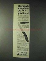1973 Gerber Shorty Knife Ad - How Much Should You Pay