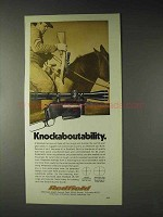 1973 Redfield Scopes Ad - Knockaboutability