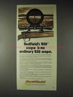 1973 Redfield 4x Frontier Scope Ad - No Ordinary Scope
