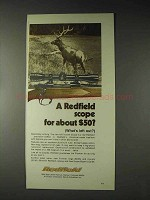 1973 Redfield 4x Frontier Scope Ad!